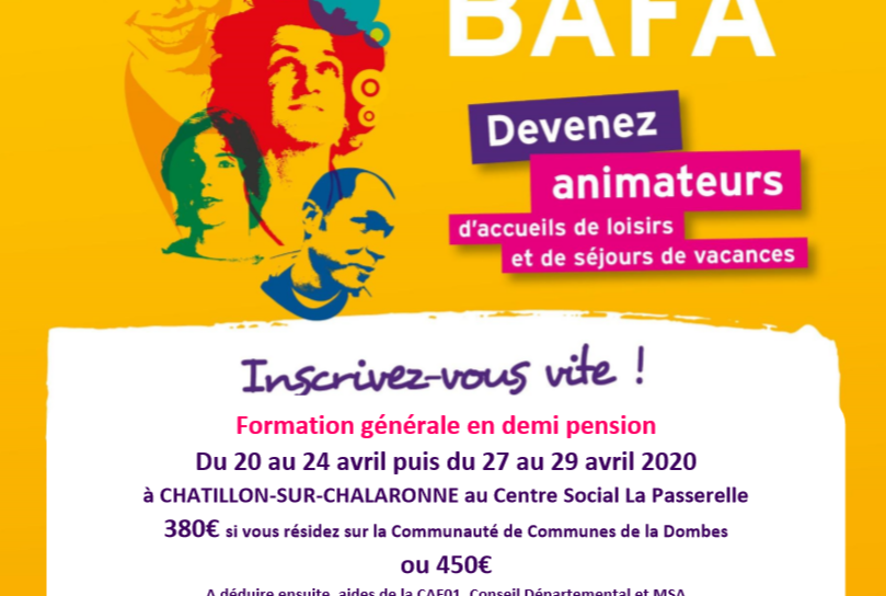 Affiche Base BAFA Chatillon2020